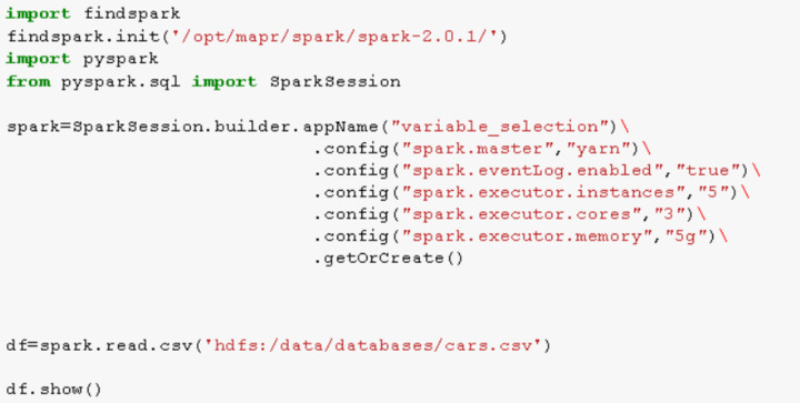 Error while creating spark session and loading csv file in